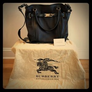 Burberry Golderton Pebbled Leather Bridal Tote